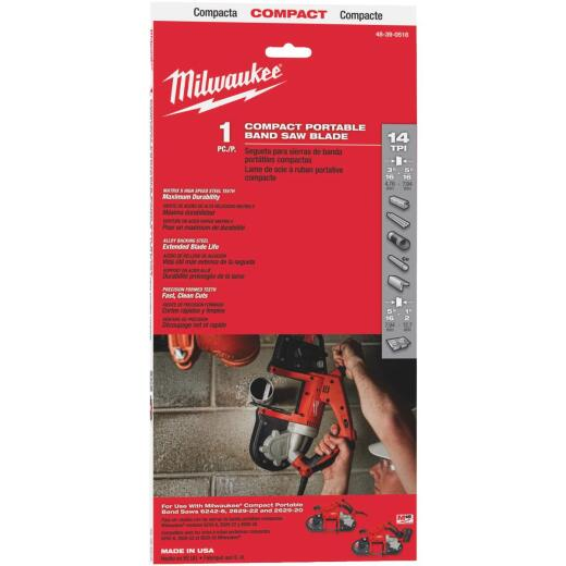 Milwaukee 35-3/8 In. x 1/2 In. 14 TPI Compact Band Saw Blade