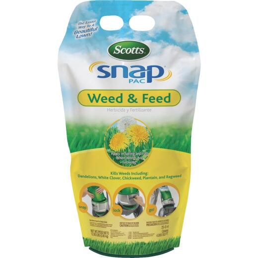Scotts Snap Pac Weed & Feed 13.72 Lb. 4000 Sq. Ft. 25-0-4 Northern Lawn Fertilizer with Weed Killer