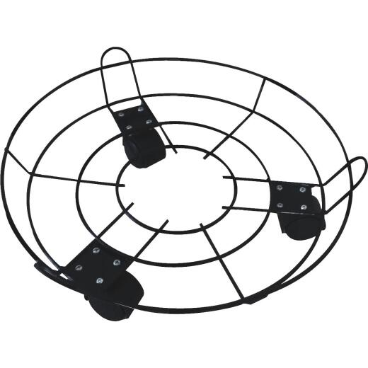Best Garden 13 In. Coated Wired Rolling Plant Caddy
